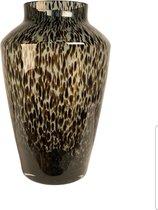 Hudson Grey Cheetah vaas - panter vaas - tijger vaas - mondgeblazen vaas - Cheetah vaas - luipaard vaas - panter vaas