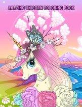 Amazing Unicorn Coloring Book