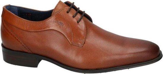 Fluchos -Heren -  cognac/caramel - geklede lage schoenen - maat 45