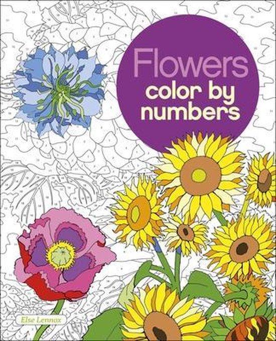 Boek cover Flowers Color by Numbers van Else Lennox (Paperback)