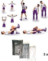 Fitness Elastiek Weerstandselastiek 3 stuks 150 cm x 15 cm Weerstandsband