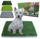 Hondentoilet - Puppytoilet - Puppy zindelijk maken - Puppy trainer - Zindelijkheidstraining - Potty Patch - Hondenmand - Vervanger van puppy training pads - Indoor & outdoor hondentoilet - Trainingshulpen hond