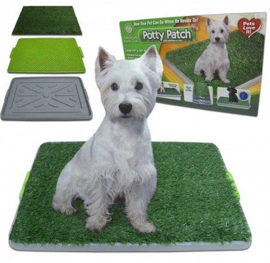 Hondentoilet - Puppytoilet - Puppy zindelijk maken - Puppy trainer - Zindelijkheidstraining - Hondenmand - Vervanger van puppy training pads - Indoor & outdoor hondentoilet - Trainingshulpen hond