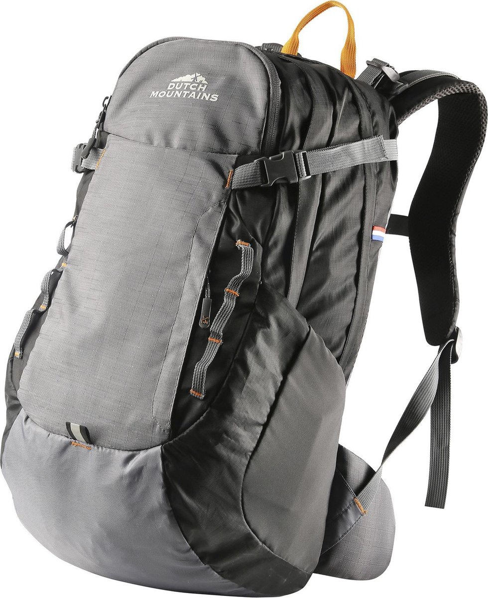 Dutch Mountains   Vecht  Backpack - Lichtgewicht Rugzak - Inclusief Regenhoes - 30 Liter - Zwart