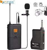 Dasspeld microfoon | Draadloos voor mobiel - videocamera | clip on spraakmicrofoon | Iphone - Android | Fifine technology k037