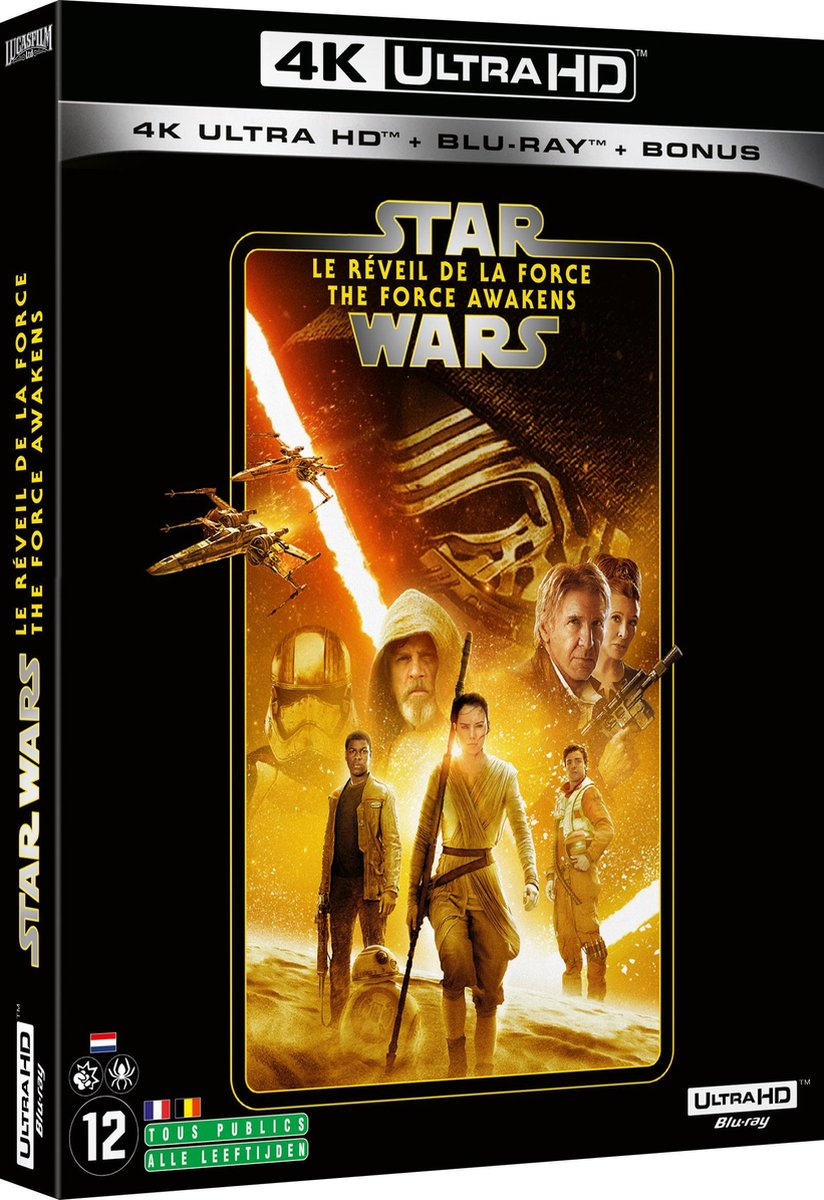 Star Wars Episode  VII: The Force Awakens (4K Ultra HD Blu-ray) (Import zonder NL)-