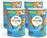 NaturNes® Bio Nutripops Wortel 10+ mnd baby tussendoortje biologisch - 4 blikjes - baby snack