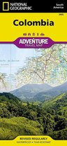 National Geographic Adventure Travel Map Colombia Map