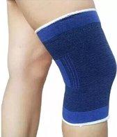LOUZIR  Kniebrace - Zeer Effectief - Unisex - Brace Knie - Knee Support - Brace Voor Knie - Knie Compressie - Knee Support Sleeve - Knie Bescherming - Massage Band - Support Sleeve - Compressie Knie - Goed tegen knieklachten - One Size - Blauw