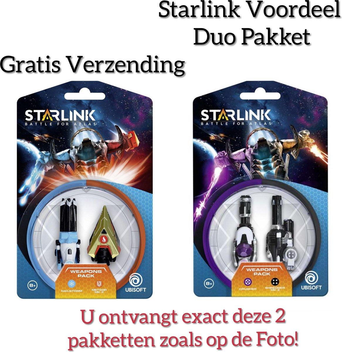 Voordeel duo pakket Starlink: Battle for Atlas  / Crusher / Shredder /Hailstorm / Meteor Mk.2( Weapons Pack) GRATIS VERZENDING kopen