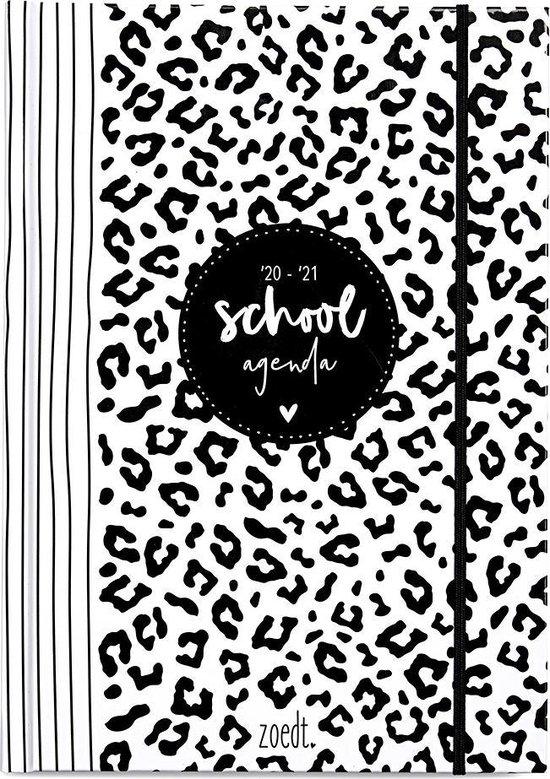 Zoedt - Schoolagenda 2020/2021 - zwart wit - hardcover - A5 formaat