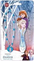 Kids Licensing Haarborstel En Ketting Frozen 2 Meisjes 25 Cm Blauw