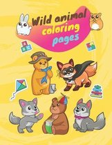 Wild animal coloring pages: Animals coloring book for kids