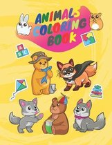 Coloring book animals: Coloring activity book
