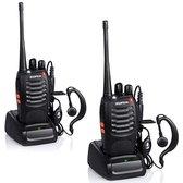 Twee Baofeng Walkie Talkies - 5 km Bereik - 8u Stand-by - 2x Headset, Accu,...