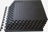 multifunctionele mattenset-vloermat-puzzelmat-fitness-zwembad - 8 Tegels van 30 x 30 cm