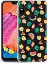 Xiaomi Redmi 6 Pro Hoesje Tropical Fruit