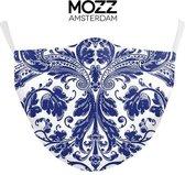 Delfts blauw - Mondkapje - Katoen - Mondmasker - W