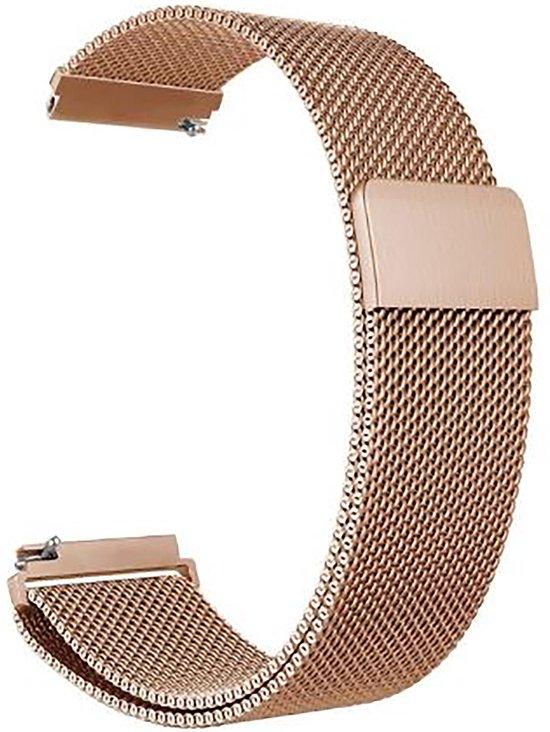 Horlogeband van RVS voor Shinola   22 mm   Horloge Band - Horlogebandjes   Rose Goud