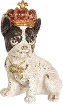 Clayre & Eef | Decoratie hond 8*6*11 cm | Meerkleurig | Polyresin | Hond | 6PR2520