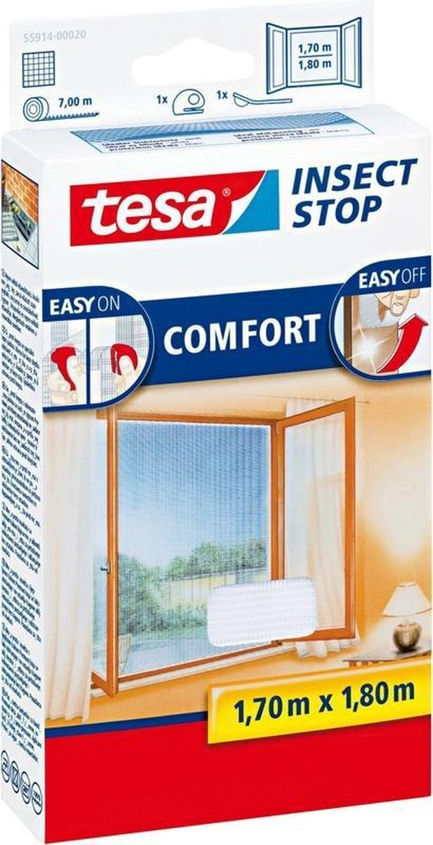 Tesa Comfort Raamhor - 170x180 cm - Wit