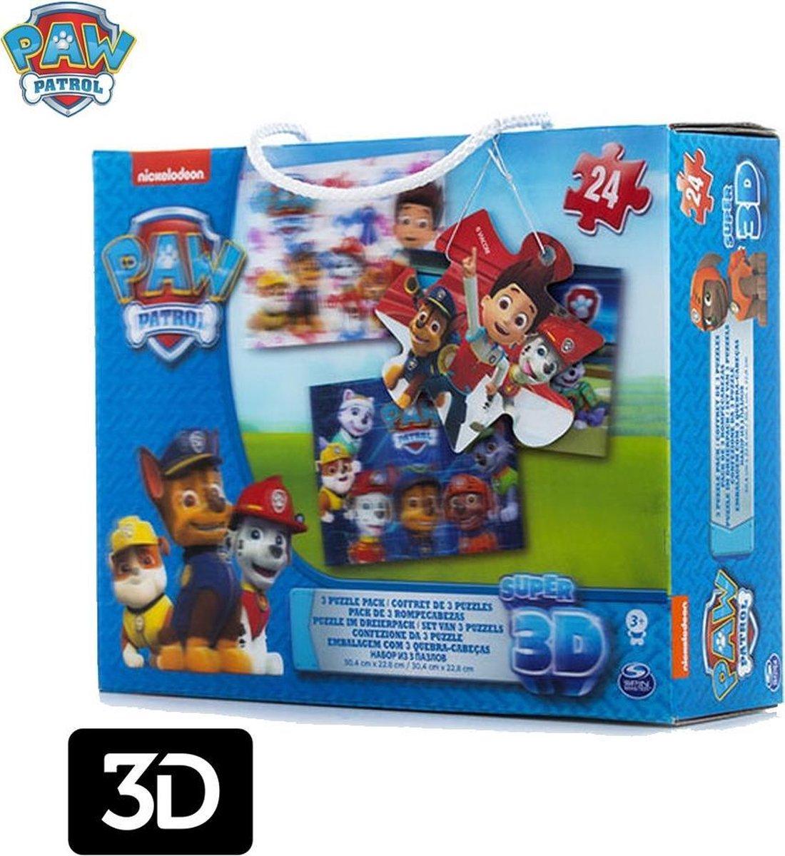 Paw Patrol Super 3D Puzzel Pack - Set Van 3 Puzzels