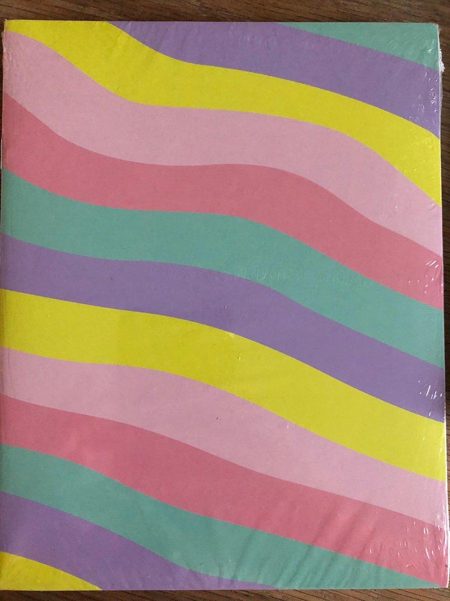 schriften 3 stuks lijn A 5 regenboog kleur - school schriften -