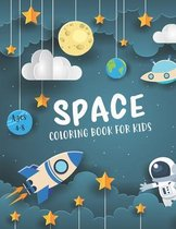 Space Coloring Book for Kids Ages 4-8