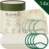 Herbruikbare Wattenschijfjes - 10x Dagelijks, 4x Scrub - Zoogcompressen - Wasbare Wattenschijfjes - Zero Waste - 3 Laags