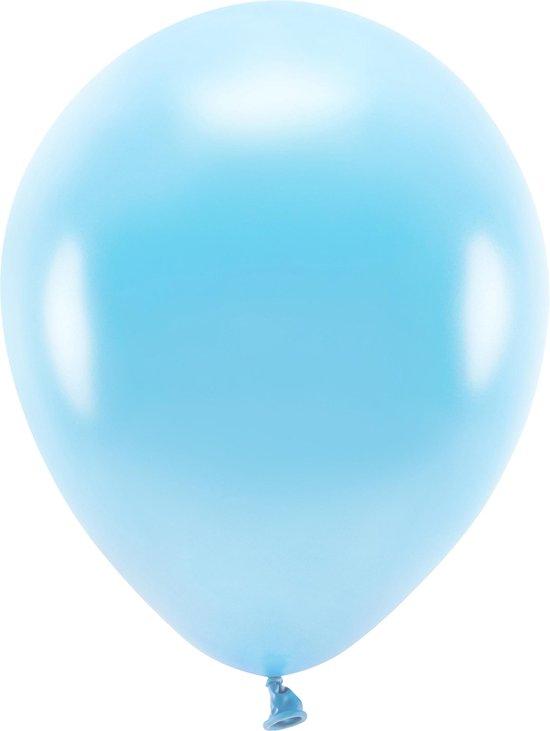 100x Lichtblauwe ballonnen 26 cm eco/biologisch afbreekbaar - Milieuvriendelijke ballonnen - Feestversiering/feestdecoratie - Lichtblauw thema - Themafeest versiering