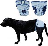 Hondenbroekje - luier voor teef - loopsheid - ongesteldheid - wasbaar - BLUE - MEDIUM