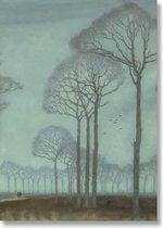 Poster, 50x70, Jan Mankes, Bomenrij