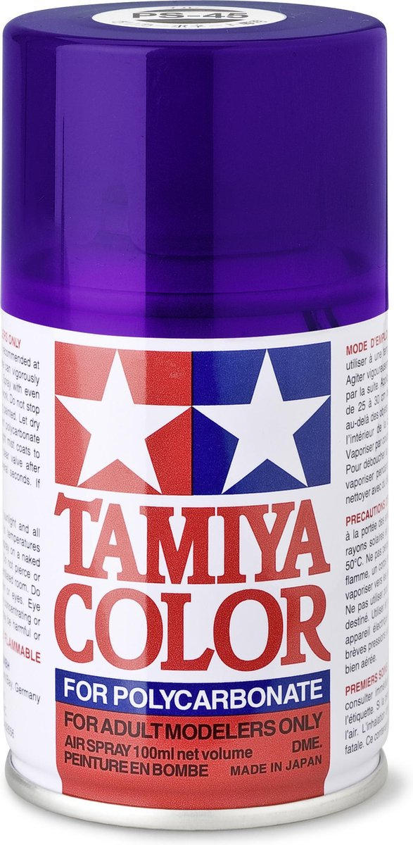 TAMIYA PS-45 Translucent paars (spuitbus 100ml)