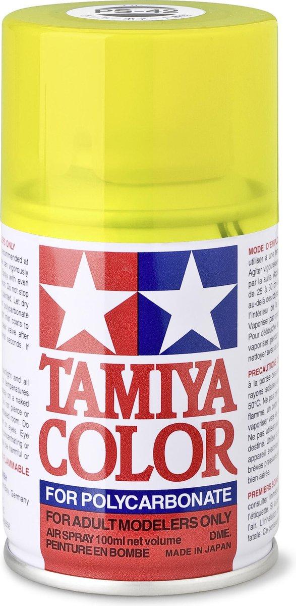 TAMIYA PS-42 Translucant geel (spuitbus 100ml)