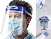 2x Gezichtscherm - Gelaatscherm - Spatscherm - Gezichtsmasker - FACE SHIELD - Beschermkap voor gezicht - bacterie - virus - veiligheidsmasker - mondkap - gezichtsschild - transparant - GRATIS VERZENDING