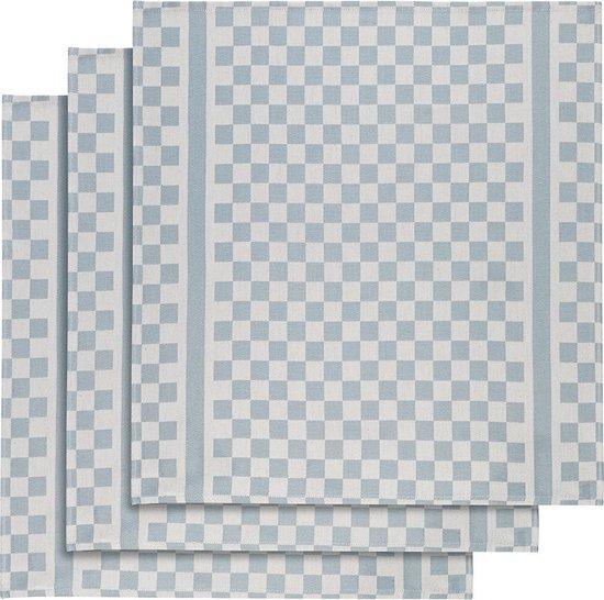 De Witte Lietaer Keukenhanddoek 65x70 Cm Katoen Wit/blauw 3 Stuks