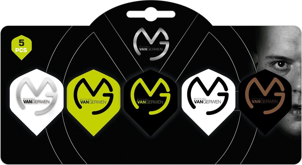Michael van Gerwen - multipack - 5 sets (15 stuks) logo flights - mvg logo - darts flights