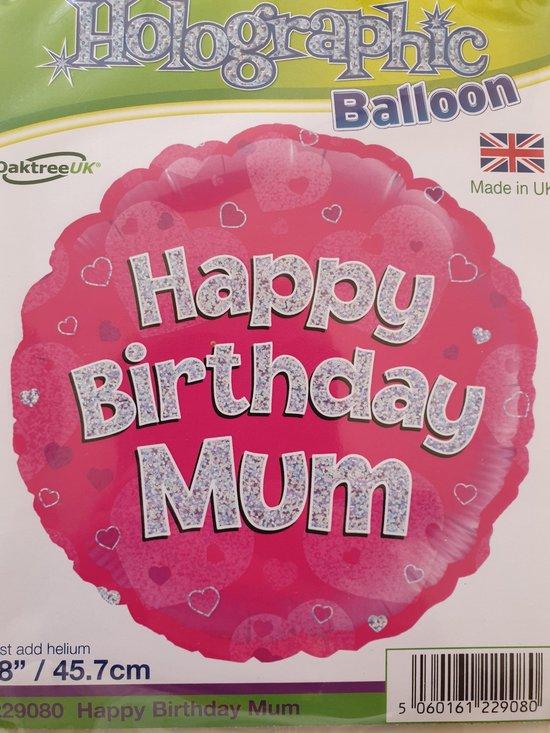 folieballon Happy Birthday Mum