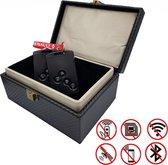 Premium Faraday Box Voor Smart Keycards - Keyless Entry Uitschakelen - Antidiefstal Beschermdoos - RFID Beschermhoes - Signaal Blocker - Smart Key etui - Zwart