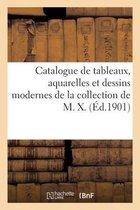 Catalogue de tableaux, aquarelles et dessins modernes de la collection de M. X.
