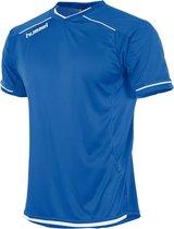 hummel Leeds Shirt k.m. Sportshirt - Blauw - Maat L