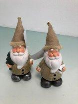 2 stuks - kabouters in kerstsfeer
