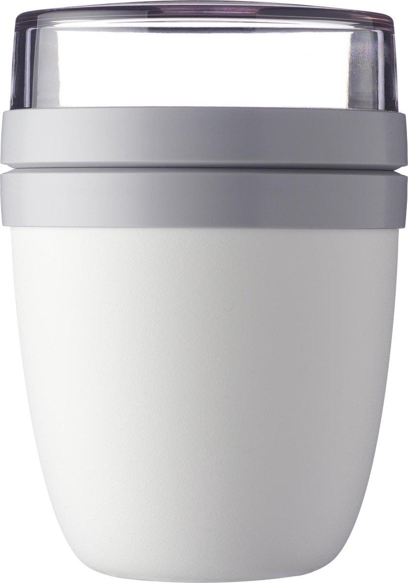 Mepal – Lunchpot Ellipse – Praktische muesli beker to go – wit – Geschikt voor vriezer, magnetron en