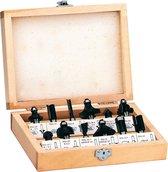 EINHELL FS 12 Frezenset - 12-delige frezenset in houten koffer - Schachtdiameter: 8 mm