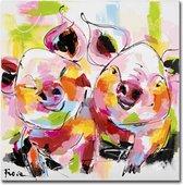 Schilderij - Twee vriendjes