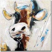 Schilderij - Stoere koe