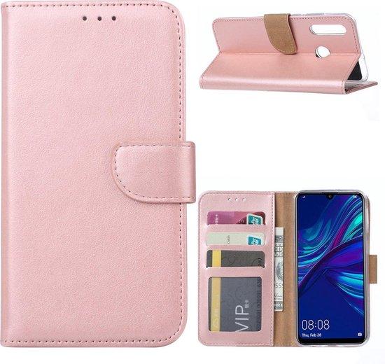 Huawei P Smart 2019 Portemonnee hoesje Rose Goud met 2 stuks Glas Screen protector