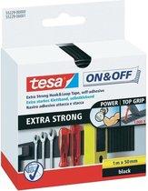 Tesa-Velcro Klittenbandstrook 55229-ZW - 50 mm x 1 m - Zwart