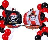 Piratendecoratie - 23 Stuks - Piraten ballon - Piraten Feestartikelen