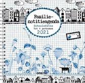 Comello Familienotitieagenda 2020/2021-Bloemenpracht- 6-persoons (zachte kaft)-17-maands